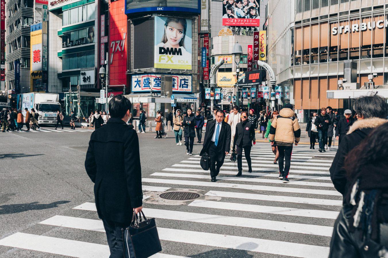 Zebrastreifen in Tokio