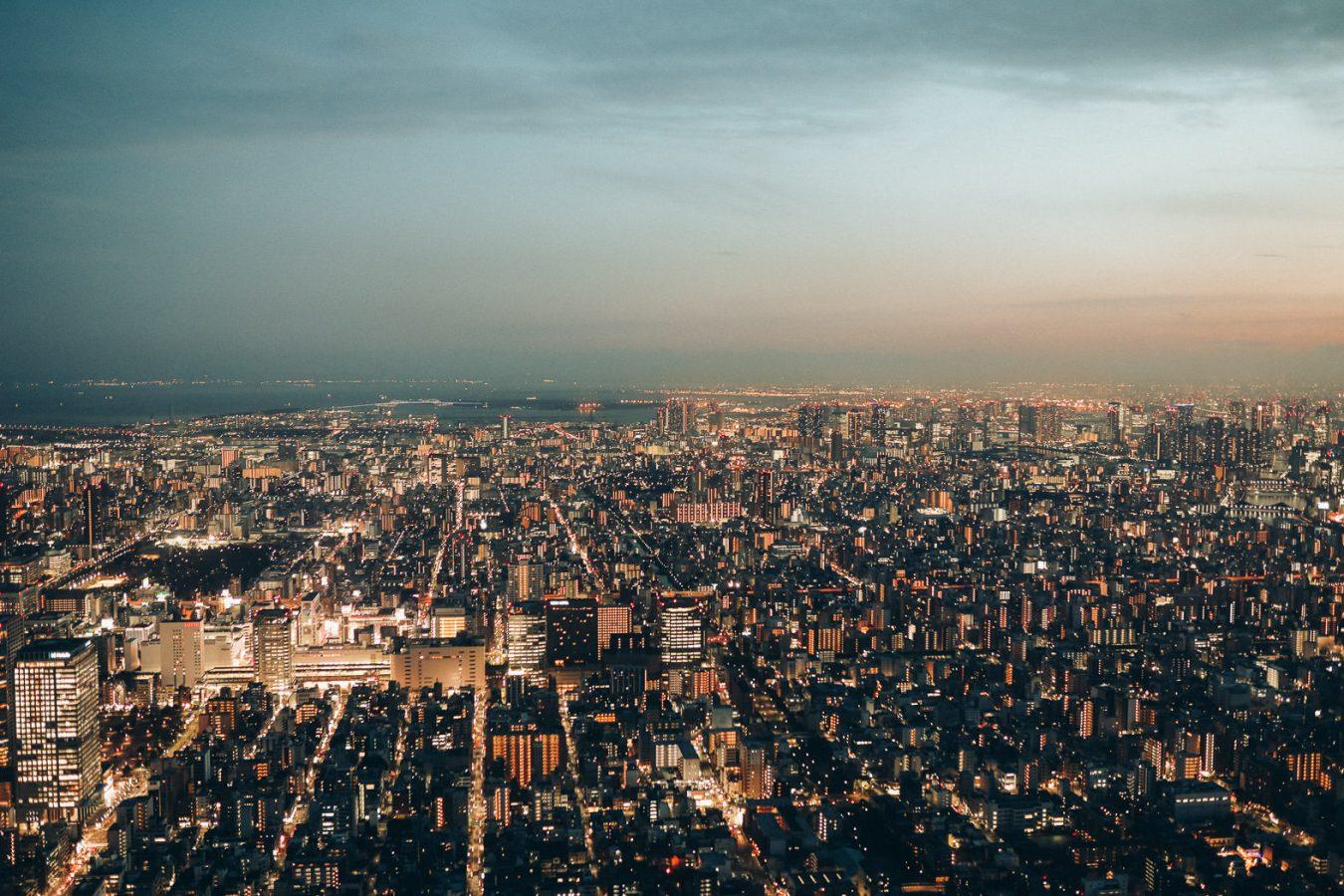 Tokio Skyline von Skytree