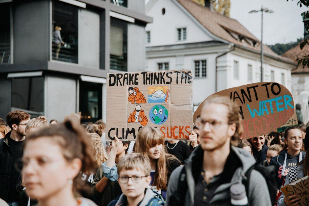 Klima Streik in Bundeshauptstadt Vorarlberg