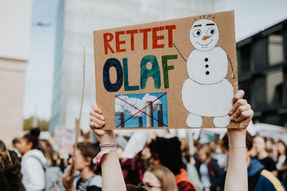 Klima Streik Schild
