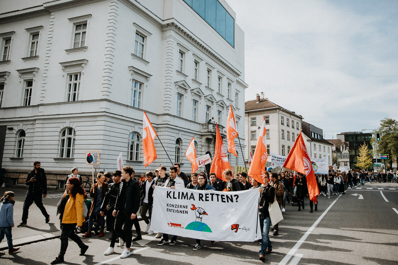 Demonstration Bregenz Klima Streik