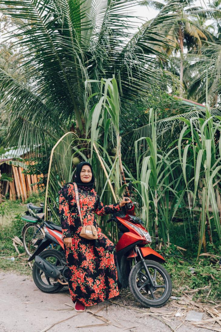 lady on motorbike